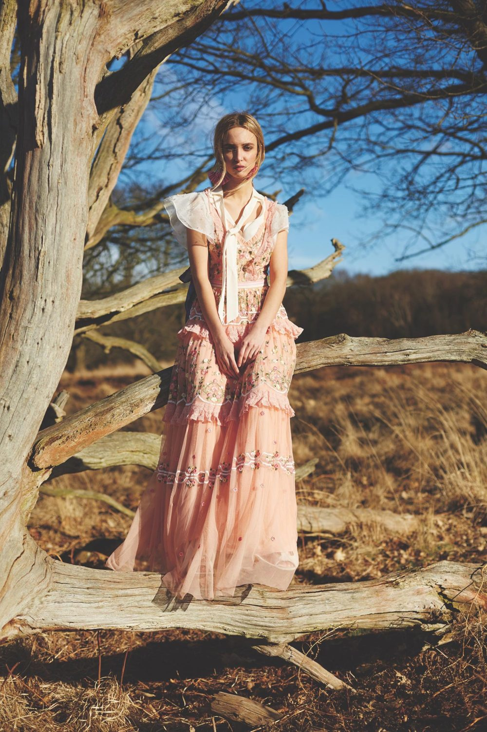 vintage style long dress